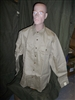 zz8 WWII US Army EM Khaki cotton shirt 17 x 34 U1A