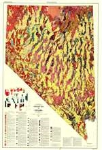 Geologic Map Of Nevada SHEETS NORTH AND SOUTH - Map of nevada