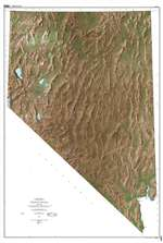 Shaded relief map of Nevada