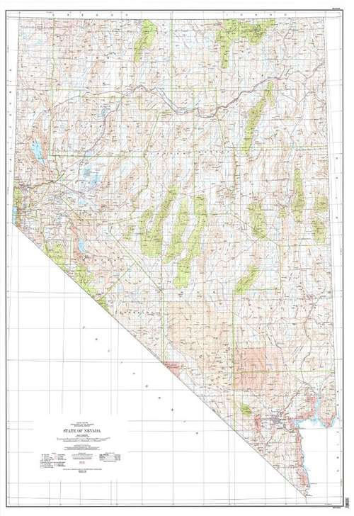 Topographic Map Of Nevada.Topographic Map Of Nevada