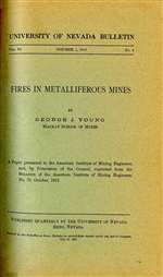 Fires in metalliferous mines PHOTOCOPY