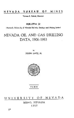 Nevada oil and gas drilling data, 1906-1953 OUT OF PRINT
