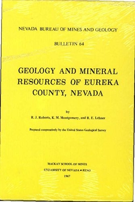 Geology and mineral resources of Eureka County, Nevada