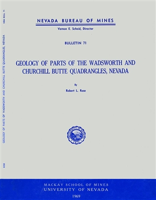 Geology of parts of the Wadsworth and Churchill Butte quadrangles, Nevada