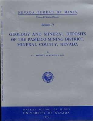 Geology and mineral deposits of the Pamlico mining district, Mineral County, Nevada PRINT-ON-DEMAND