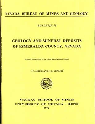 Geology and mineral deposits of Esmeralda County, Nevada