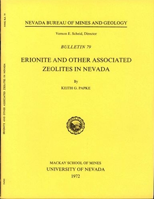 Erionite and other associated zeolites in Nevada