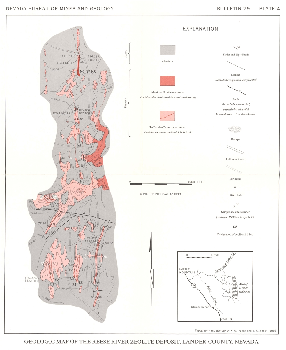 Erionite and other associated zeolites in nevada - Geological survey and mines bureau ...