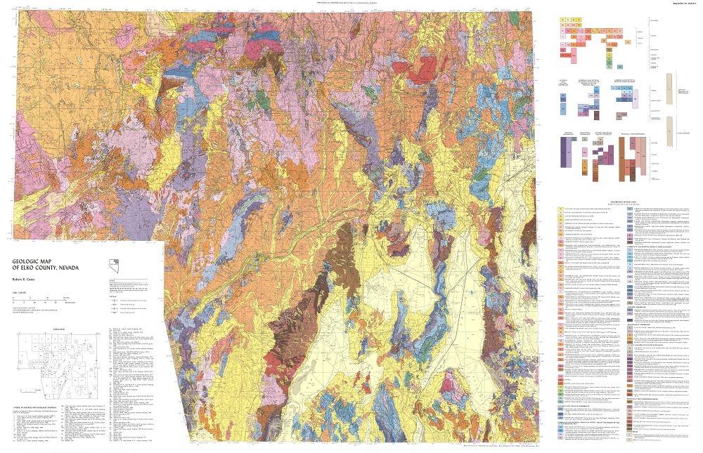 Geology of Elko County, Nevada on