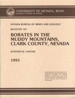 Borates in the Muddy Mountains, Clark County, Nevada