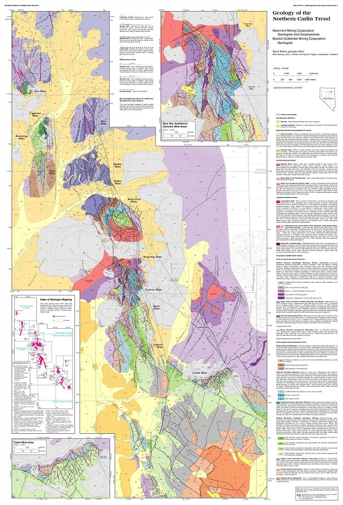 Gold deposits of the carlin trend complete digital product with gis gumiabroncs Images