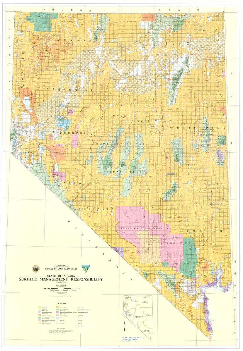 State of Nevada: Surface management responsibility