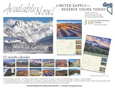 Nevada geology calendar 2020