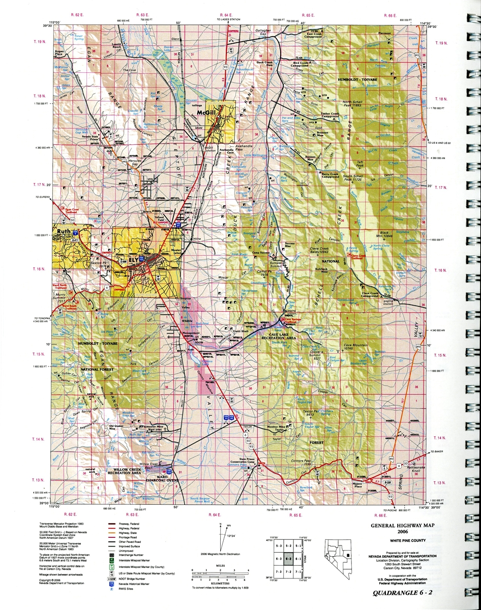 Nevada map atlas twentyfirst edition