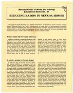 Reducing radon in Nevada homes (brochure)