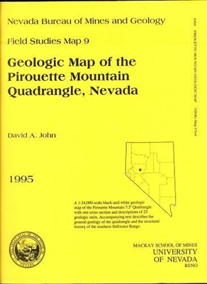 Geologic map of the Pirouette Mountain quadrangle, Nevada B/W MAP AND TEXT