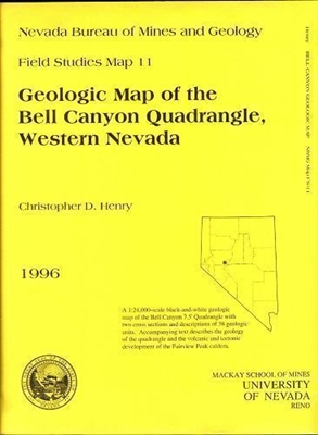 Geologic map of the Bell Canyon quadrangle, western Nevada B/W MAP AND TEXT