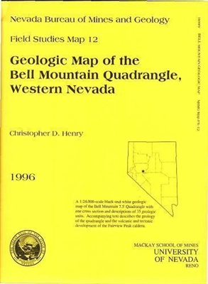 Geologic map of the Bell Mountain quadrangle, western Nevada B/W MAP AND TEXT