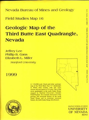 Geologic map of the Third Butte East quadrangle, Nevada B/W MAP AND TEXT