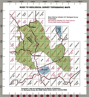 Toiyabe National Forest Bridgeport Ranger District - Us forest service topo maps