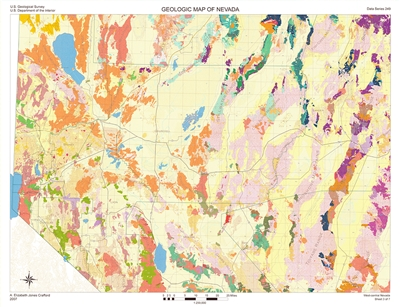 Geologic map of west-central Nevada SHEET 3: WEST-CENTRAL, NO LEGEND