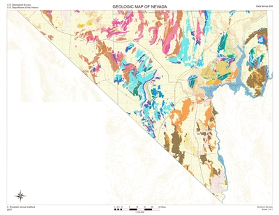 Geologic map of southern Nevada SHEET 7: SOUTHERN, NO LEGEND