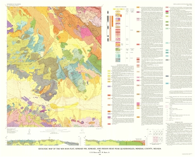 Geologic map of the Win Wan Flat, Kinkaid NW, Kinkaid, and Indian Head Peak quadrangles, Mineral County, Nevada PRINT-ON-DEMAND