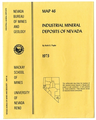 Industrial mineral deposits of Nevada SUPERSEDED BY MAP 142, SUPERSEDES MAP 27