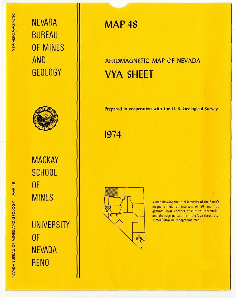 Aeromagnetic map of nevada vya sheet - Geological survey and mines bureau ...