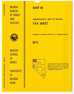 Aeromagnetic map of Nevada: Vya sheet