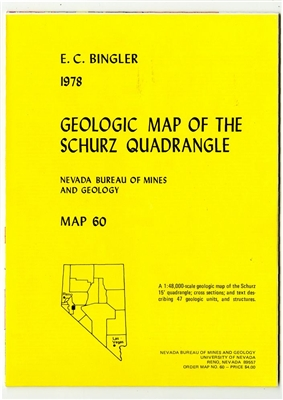 Geologic map of the Schurz quadrangle SEE ALSO OPEN-FILE REPORT 09-13
