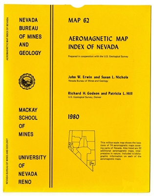 Aeromagnetic map index of Nevada