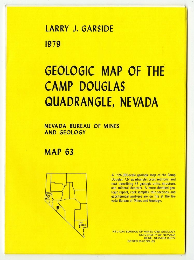 Geologic map of the camp douglas quadrangle nevada complete digital product with gis - Geological survey and mines bureau ...
