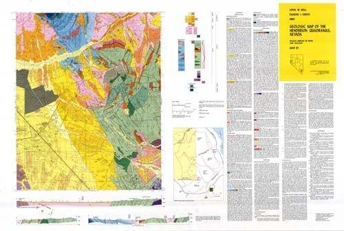 Geologic map of the Henderson quadrangle Nevada PAPER MAP