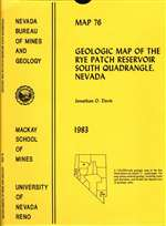 Geologic map of the Rye Patch Reservoir South quadrangle, Nevada