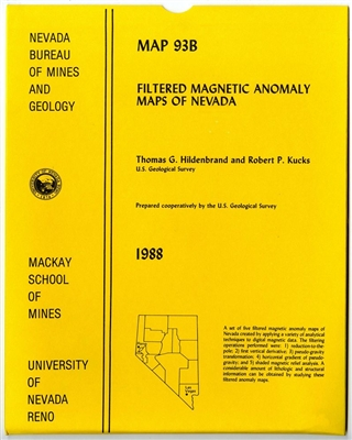 Filtered magnetic anomaly maps of Nevada 5 SHEETS