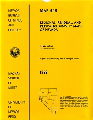 Regional, residual, and derivative gravity maps of Nevada 6 MAPS ON 4 SHEETS