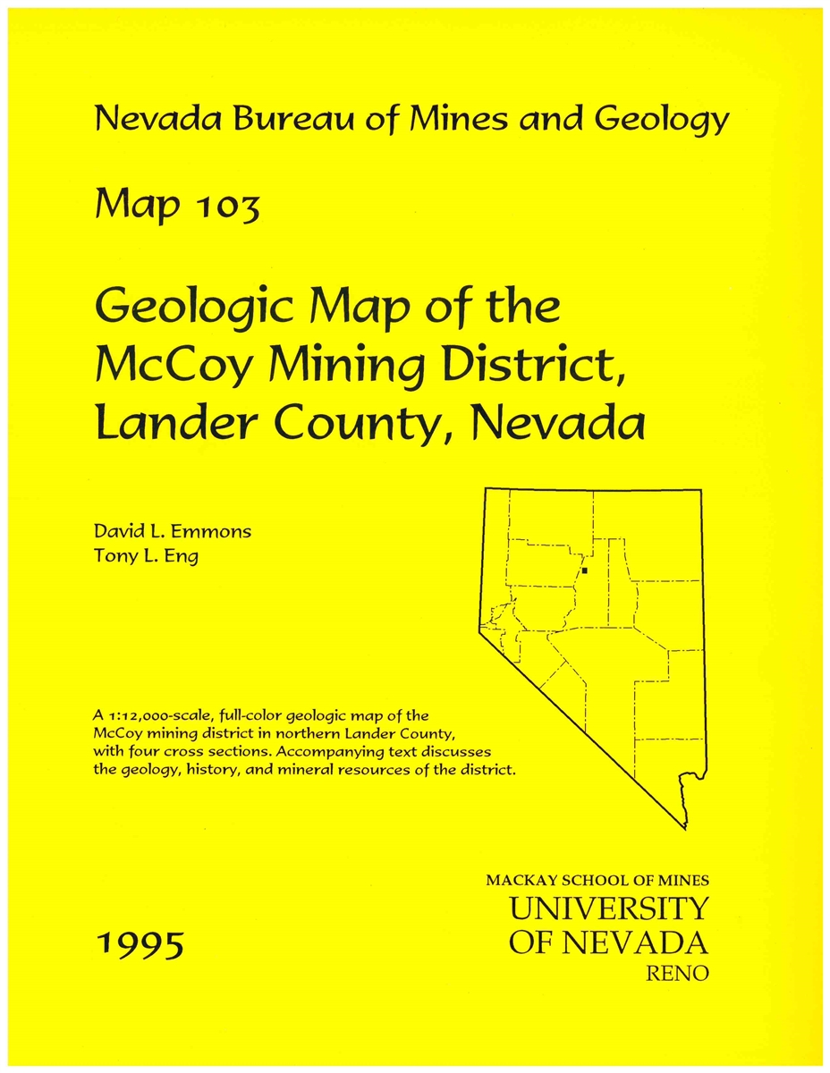 Geologic map of the McCoy mining district, Lander County, Nevada [2 PLATES  AND TEXT]
