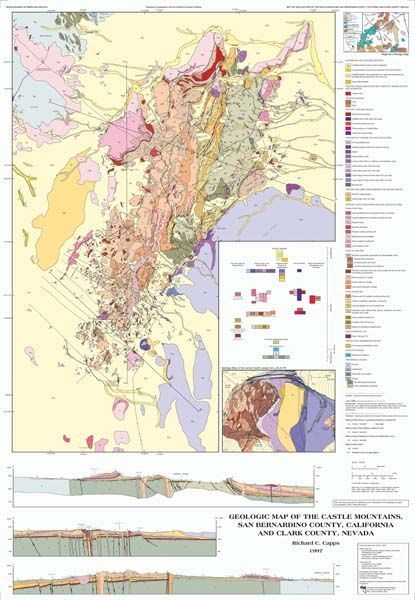 Geologic Map Of The Castle Mountains San Bernardino County - Map of san bernardino county