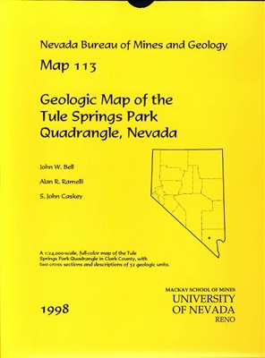 Geologic map of the Tule Springs Park quadrangle, Nevada