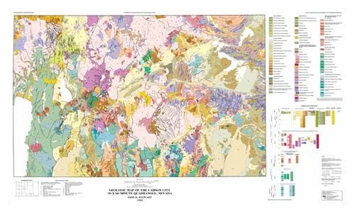 Geologic map of the Carson City 30x60 minute quadrangle, Nevada [MAP ...