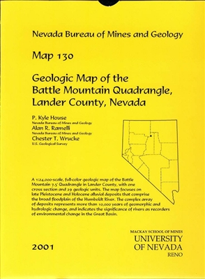 Geologic map of the Battle Mountain quadrangle, Lander County, Nevada PAPER MAP