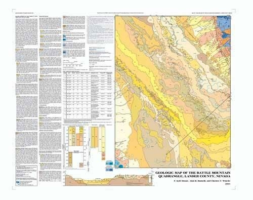 Geologic map of the Battle Mountain quadrangle, Lander County ... on map of south mountain battle, battleground nevada, seismic map for nevada, unr campus map reno nevada, map of blackfoot idaho, wind resource map nevada, united states map on nevada, map carson sink nevada, map of rigby idaho, map of nevada mountain ranges,