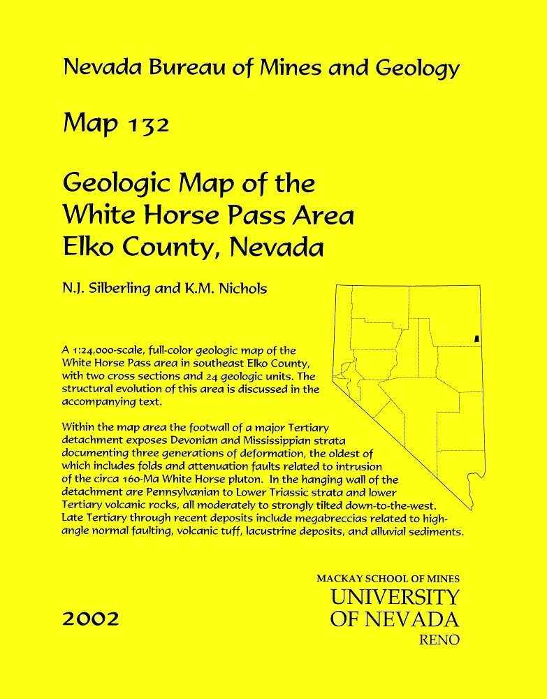Geologic Map Of The White Horse Pass Area Elko County Nevada