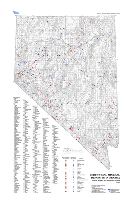 Industrial mineral deposits in Nevada MAP ONLY