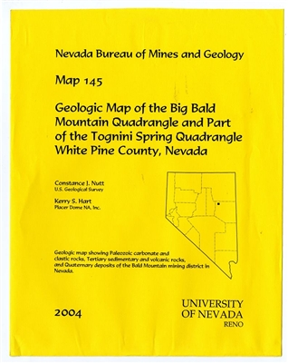 Geologic map of the Big Bald Mountain quadrangle and part of the Tognini Spring quadrangle, White Pine County, Nevada MAP AND TEXT
