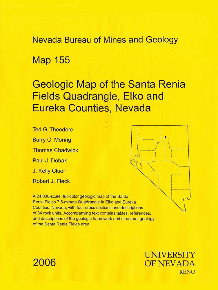 geologic map of the santa renia fields quadrangle elko and eureka counties nevada map and text. Black Bedroom Furniture Sets. Home Design Ideas