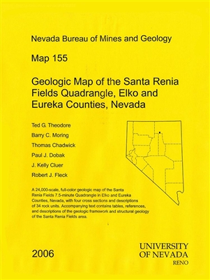 Geologic map of the Santa Renia Fields quadrangle, Elko and Eureka counties, Nevada MAP AND TEXT