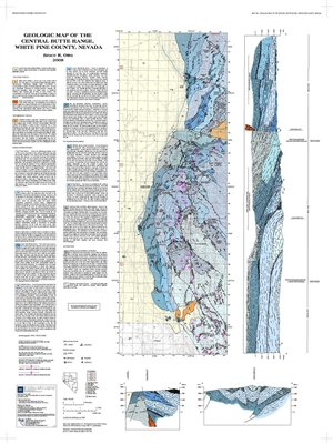 Geologic map of the central Butte Range, White Pine County, Nevada MAP ONLY