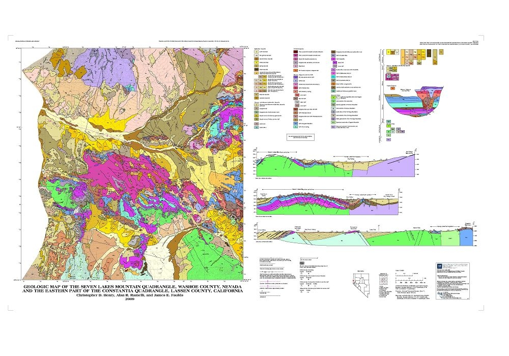 Geologic map of the Seven Lakes Mountain quadrangle, Washoe County on